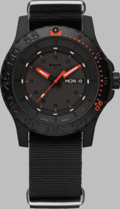 Traser P66 Red Combat Watch with Nato Strap