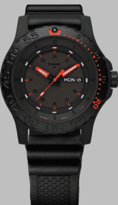 Traser P66 Red Combat Watch with Rubber Strap