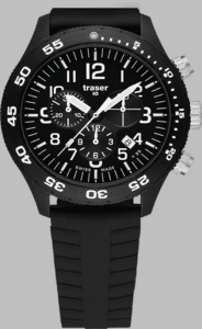 Traser P67 Officer Chronograph Pro Watch with Silicone Strap