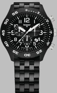 Traser P67 Officer Chronograph Pro Watch with Stainless Steel Strap