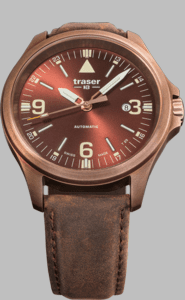 Traser P67 Officer Pro Automatic Bronze Brown Watch with Brown Leather Strap