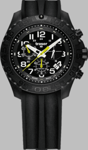 Traser P67 Outdoor Pioneer Chronograph Watch with Silicone Strap