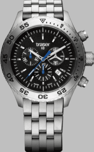 Traser T5 Aurora Chronograph Watch with Stainless Steel Strap