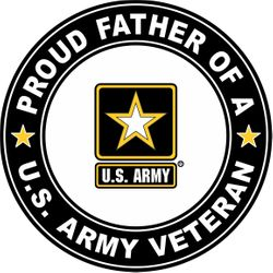 U.S. Army Veteran Proud Father Decal