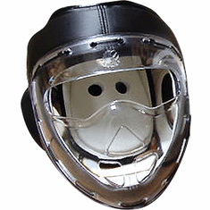 Clear Shield Head Gear, Black