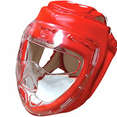 Clear Shield Head Gear, Red