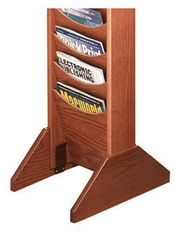 Buddy 0617 Wooden Bases for Literature Display Racks