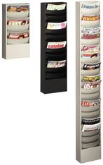 Buddy 0863 Eclipse Line Curved Steel Literature Rack with 23 Pocket