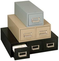 Buddy 1635 3x5 Double Drawer Card Cabinets