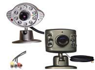 clover cm910 mini night vision camera w/ 60' cable & power adapter