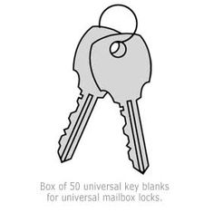 Commercial 1199 Universal Key Blanks for Universal Lock-Box of (50)