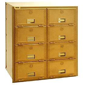 Commercial 2008RL 8 Door Brass Mailbox with Rear Loading