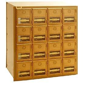 Commercial 2016RL 16 Door Brass Mailbox with Rear Loading