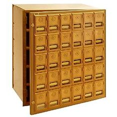 Commercial 2030FL 30 Door Brass Mailbox with Front Loading
