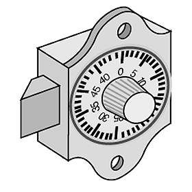 Commercial 2086 Combination Lock for Brass Mailboxes