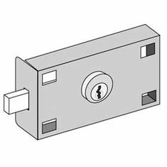 Commercial 2275 Commercial Lock for Private Access of Aluminum Parcel Locker with (2) Keys