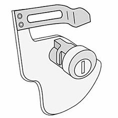 Commercial 2276 Lock - tenant lock assembly for 2270 and 2272 with - 2 keys