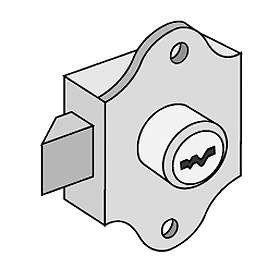 Commercial 2287 Spring Latch Lock for Aluminum Mailboxes with (2) Keys