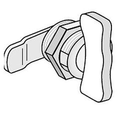 Commercial 2288 Thumb Latch for Letter Boxes/Receptacles