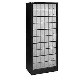 Commercial 2300 Free Standing Roll-a-Bout Mail Centers with Aluminum Style