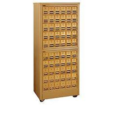 Commercial 2350 Free Standing Roll-a-Bout Mail Centers with Brass/Americana Style