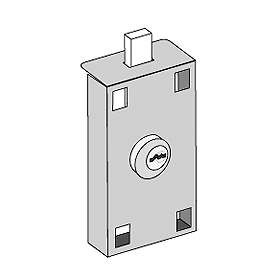 Commercial 3575 Master Commercial Lock for Private Access of Vertical Mailboxes with (2) Keys