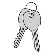 Commercial 3599 Key Blanks for Standard Locks of Vertical Mailboxes-Box of (50)