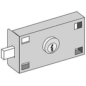 Commercial 3677 Master Commercial Lock for Private Access of FL 4B+ Horizontal Collection Unit with (2) Keys
