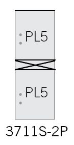 Commercial 3711S-2P Stand-alone Parcel Lockers (two)