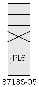 Commercial 3713S-05 5 MB1 Doors and one Parcel Locker