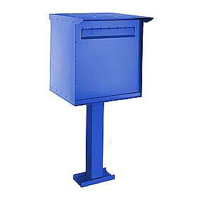 Commercial 4276 Large Pedestal Drop Box with Durable Powder Coated Finish
