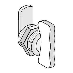 Commercial 4388 Thumb Latch-Option for Roadside Mailboxes, Mail Chests and Mail Package Drops