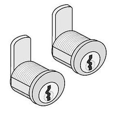 Commercial 4390 Lock Set-(2) Standard Replacement Locks (Keyed Alike) with (2) Keys Each for Roadside Mailboxes, Mail Chests and Mail Package Drops