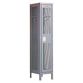 Locker 81168 Single Tier 1 Wide 6 Feet High 18 Inches Deep Extra Wide Vented Lockers