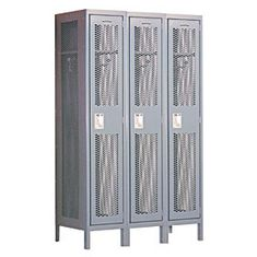 Locker 81365 Single Tier 3 Wide 6 Feet High 15 Inches Deep Extra Wide Vented Lockers
