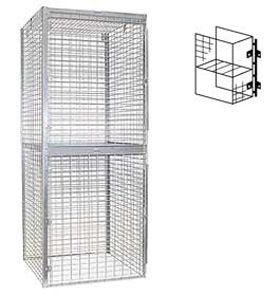 Locker 8245-S Double Tier Starter 48 Inches Wide 60 Inches Deep Storage Lockers