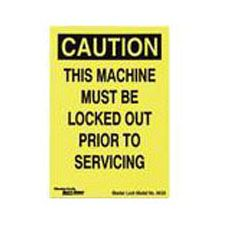 Master Lock 463A Magnetic Lockout Sign