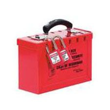 Master Lock 498A Portable Red Group Lock Box - Latch Tight