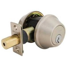 Master Lock DDCR715 Residential Double Cylinder Deadbolt with Recodable Cylinder, Satin Nickel