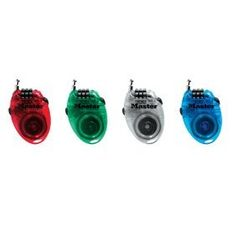 Master Lock Retractable Combination Cable Lock Asst 4603D Pack of 4