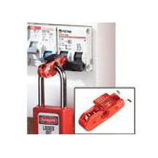 Master Lock S2391 Miniature Circuit Breaker Lockout (Red Tab) - Wide Toggles