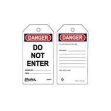 Master Lock S4001 Safety Tag Do Not Enter
