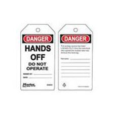 Master Lock S4004 Safety Tag hands off do not operate