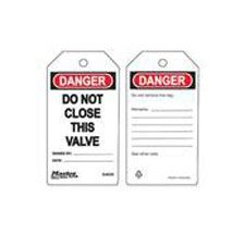 Master Lock S4008 Safety Tag Do Not Close This Valve