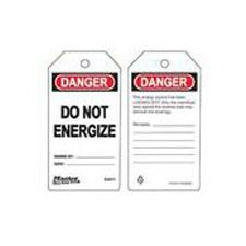 Master Lock S4011 Safety Tag do not energize