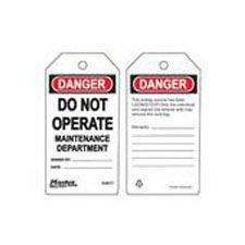 Master Lock S4017 Safety Tag