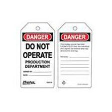 Master Lock S4019 Safety Tag do not operate production department