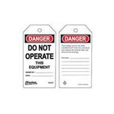 Master Lock S4022 Safety Tag do not operate equipment danger