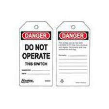 Master Lock S4023 Safety Tag danger do not operate switch