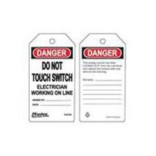 Master Lock S4029 Safety Tag electrician working on line